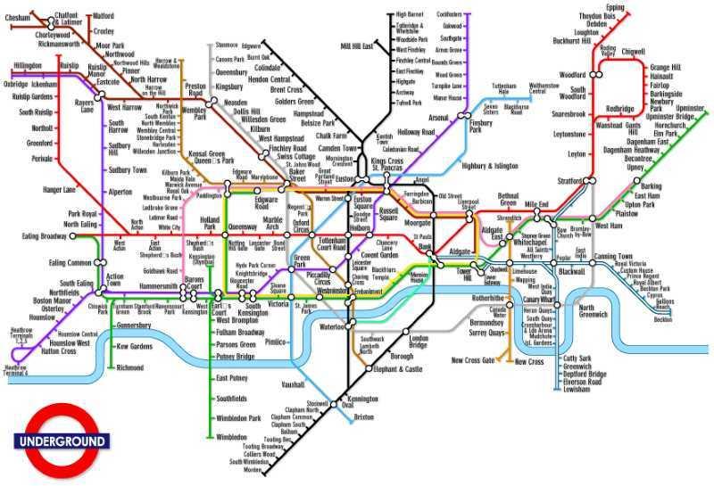 Metro Londra mappa: ecco tutte le linee - Cartina metro Londra