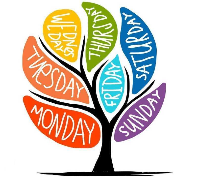 Giorni della settimana Inglese