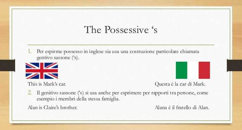 Gentivo sassone - Possessive case