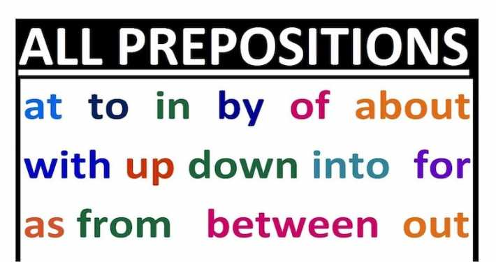 Preposizioni in Inglese
