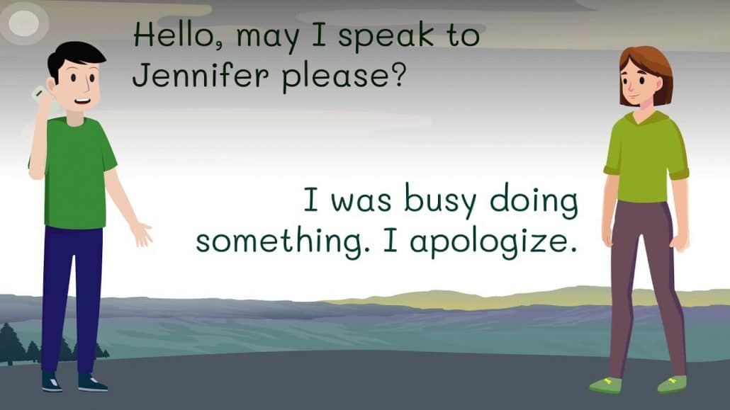 rispondi al telefono in inglese