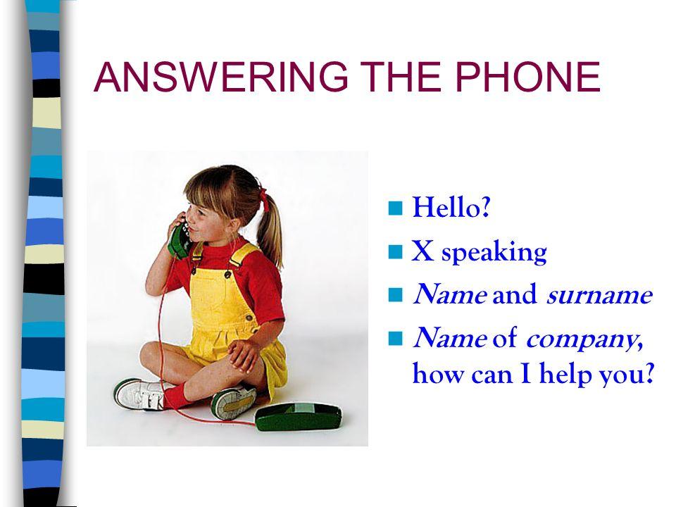 rispondere al telefono in inglese