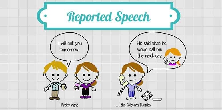 reported speech exercises